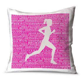 Running Throw Pillow Inspiration Female