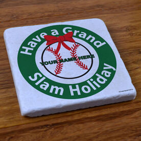 Baseball Holiday - Stone Coaster