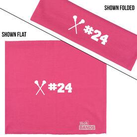 RokBAND Multi-Functional Headband - Personalized Number Girls Lacrosse Sticks