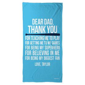 Baseball Beach Towel Dear Dad