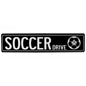 """Soccer Aluminum Room Sign Personalized Soccer Way (4""""x18"""")"""
