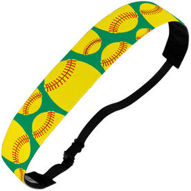 Softball Julibands No-Slip Headbands - Tossed Ball Pattern
