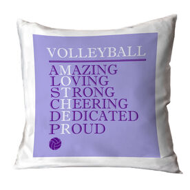 Volleyball Throw Pillow - Mother Words
