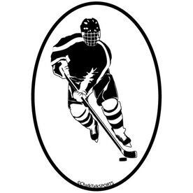 Hockey Player Oval Decal (Male)
