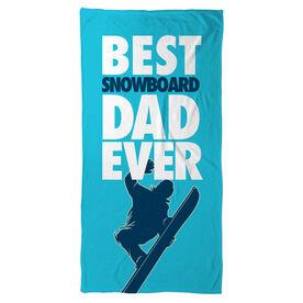 Snowboarding Beach Towel Best Dad Ever