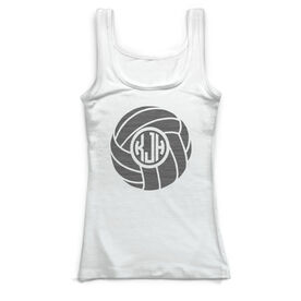 Volleyball Vintage Fitted Tank Top - Personalized Monogram