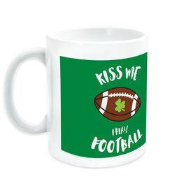 Football Ceramic Mug Kiss Me I Play