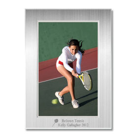 Engraved Tennis Frame Silver 4 x 6 with Tennis Icon