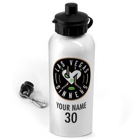 20 oz. Stainless Steel Water Bottle - Las Vegas Sinners Logo Name Number