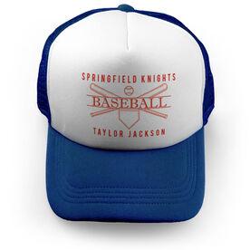 Baseball Trucker Hat - Personalized Crest
