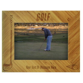 Golf Bamboo Engraved Picture Frame Golf
