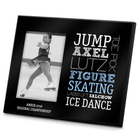 Figure Skating Photo Frame Figure Skating Typographic