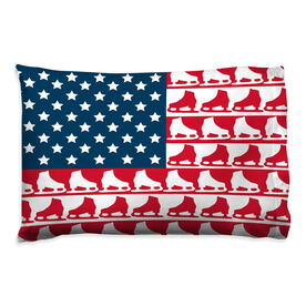 Figure Skating Pillowcase - American Flag