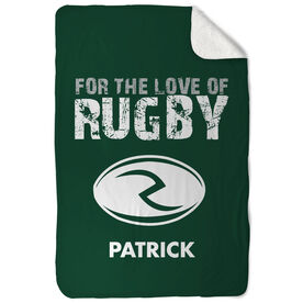 Rugby Sherpa Fleece Blanket For The Love Of Rugby