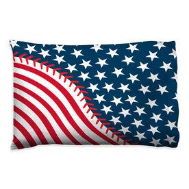 Baseball Pillowcase - American Ball Flag