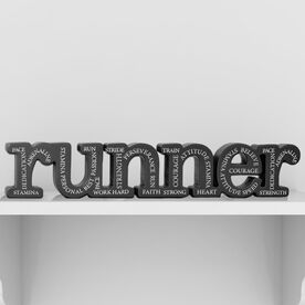 Runner All Around Inspiration Engraved Wood Words