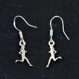 Sterling Silver Earrings Run Figure Wire Earrings