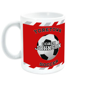 Soccer Ceramic Mug Personalized Coach with Ball
