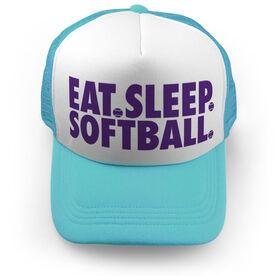 Softball Trucker Hat - Eat Sleep Softball