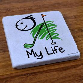 My Life Golf (Male) - Stone Coaster