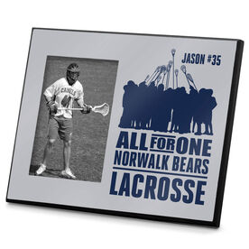 Guys Lacrosse Personalized Photo Frame All For One