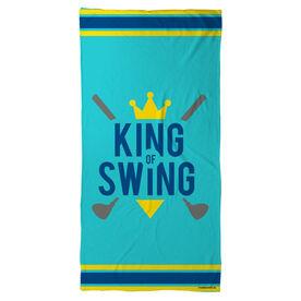 Golf Beach Towel King of Swing