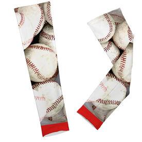 Baseball Printed Arm Sleeves Bucket O' Baseballs