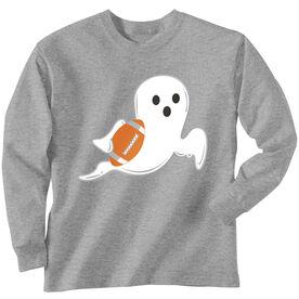 Football Tshirt Long Sleeve Football Ghost