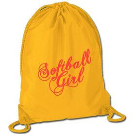 Softball Sport Pack Cinch Sack Softball Girl Script