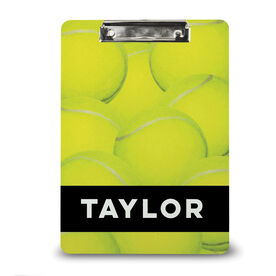 Tennis Custom Clipboard Personalized Tennis Ball Background