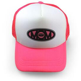Hockey Trucker Hat Mom Puck