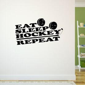 Eat Sleep Hockey Repeat Removable ChalkTalkGraphix Wall Decal