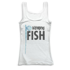 Fly Fishing Vintage Fitted Tank Top - Reel Women Fish