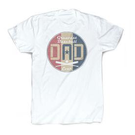 Baseball Vintage T-Shirt - Greatest Dad Stripes