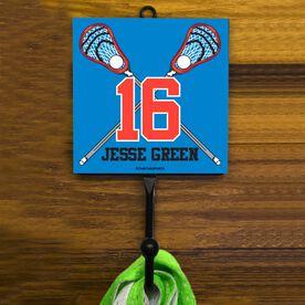 Guys Lacrosse Hook - Personalized Crossed Sticks