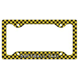 Softball Taxi License Plate Holder