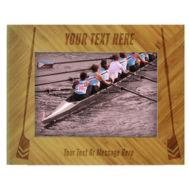 Crew Bamboo Engraved Picture Frame Your Text