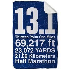 Running Sherpa Fleece Blanket 13.1 Math Miles