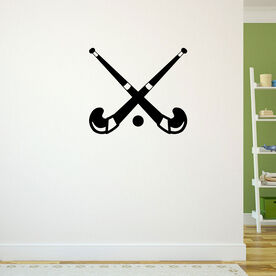Crossed Field Hockey Sticks Removable ChalkTalkGraphix Wall Decal