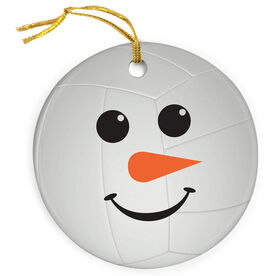Volleyball Porcelain Ornament Snowman Volleyball