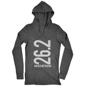 Women's Running Lightweight Performance Hoodie 26.2 Marathon Vertical