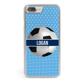 Soccer iPhone® Case - Personalized 2 Tier Patterns With Soccer Ball