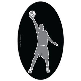 Basketball Oval Car Magnet Basketball Guy