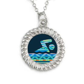 Braided Circle Necklace Tribal Swimmer