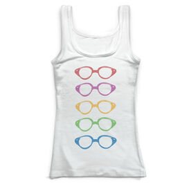 Swimming Vintage Fitted Tank Top - Goggles