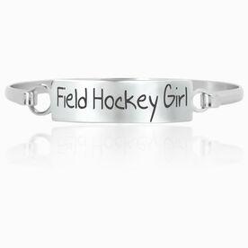 Field Hockey Engraved Clasp Bracelet Field Hockey Girl