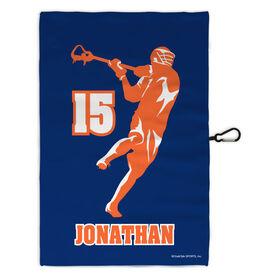 Lacrosse Bag Towels Personalized Jump Shot Silhouette