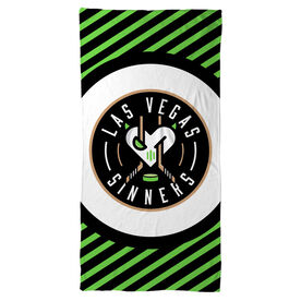 Beach Towel - Las Vegas Sinners Logo (Black)