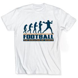 Football Tshirt Short Sleeve Football Evolution