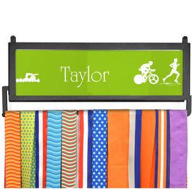 TriathletesWALL Personalized Triathlete Medal Display